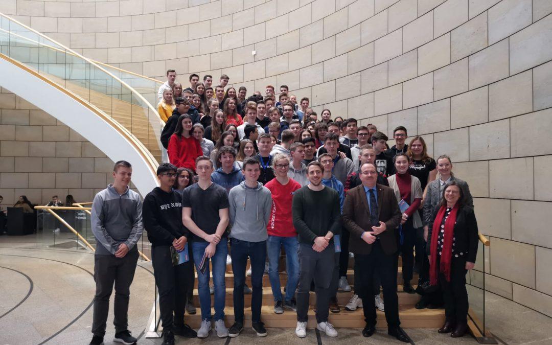 Exkursion der EF-Kurse zum Landtag NRW in Düsseldorf