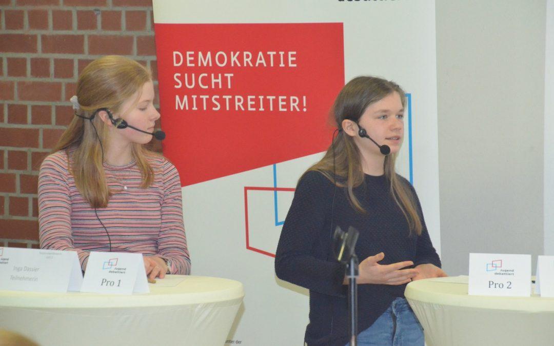 Erfolgreiche Debütantin bei Jugend debattiert