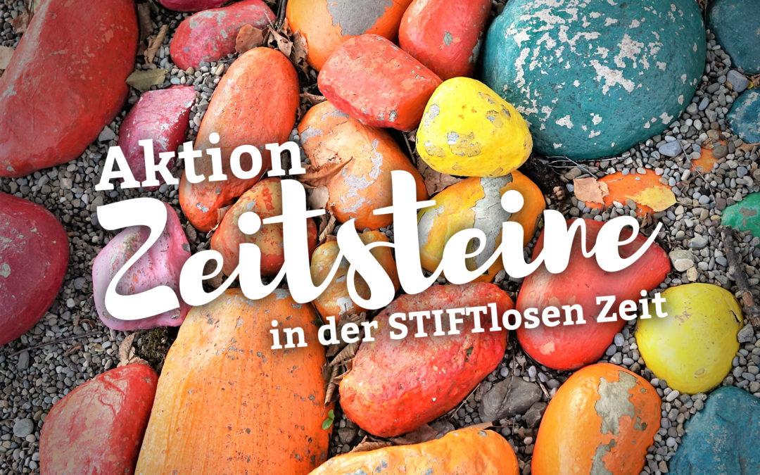"""Aktion """"Zeitsteine"""" in der STIFTlosen Zeit"""