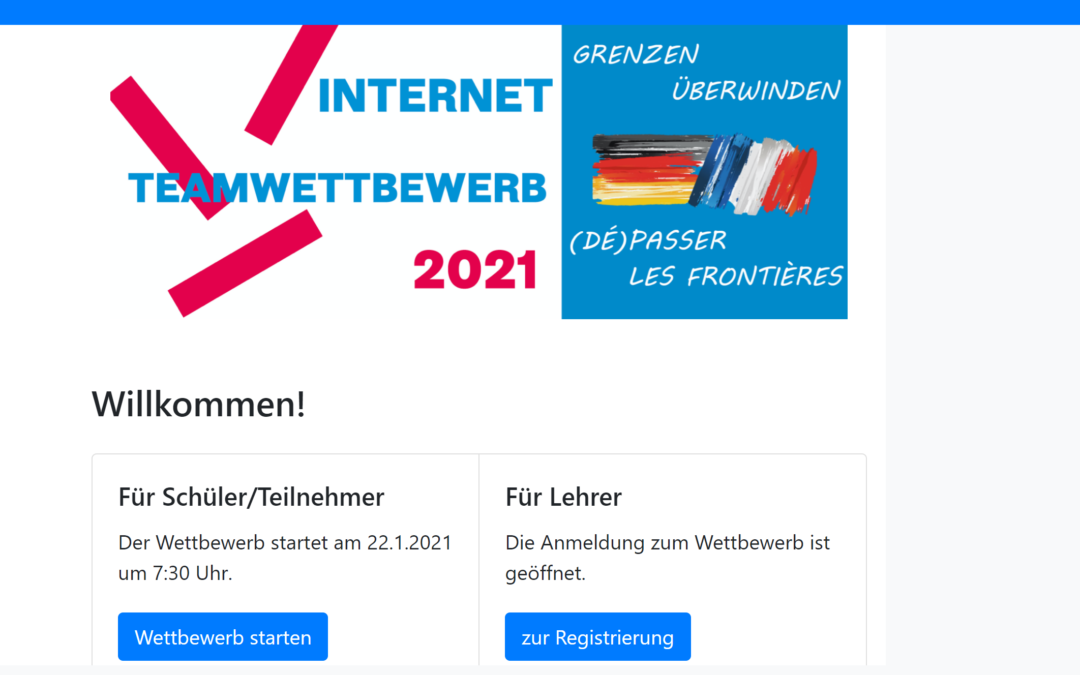 Internet-Teamwettbewerb anlässlich des deutsch-französischen Tages 2021
