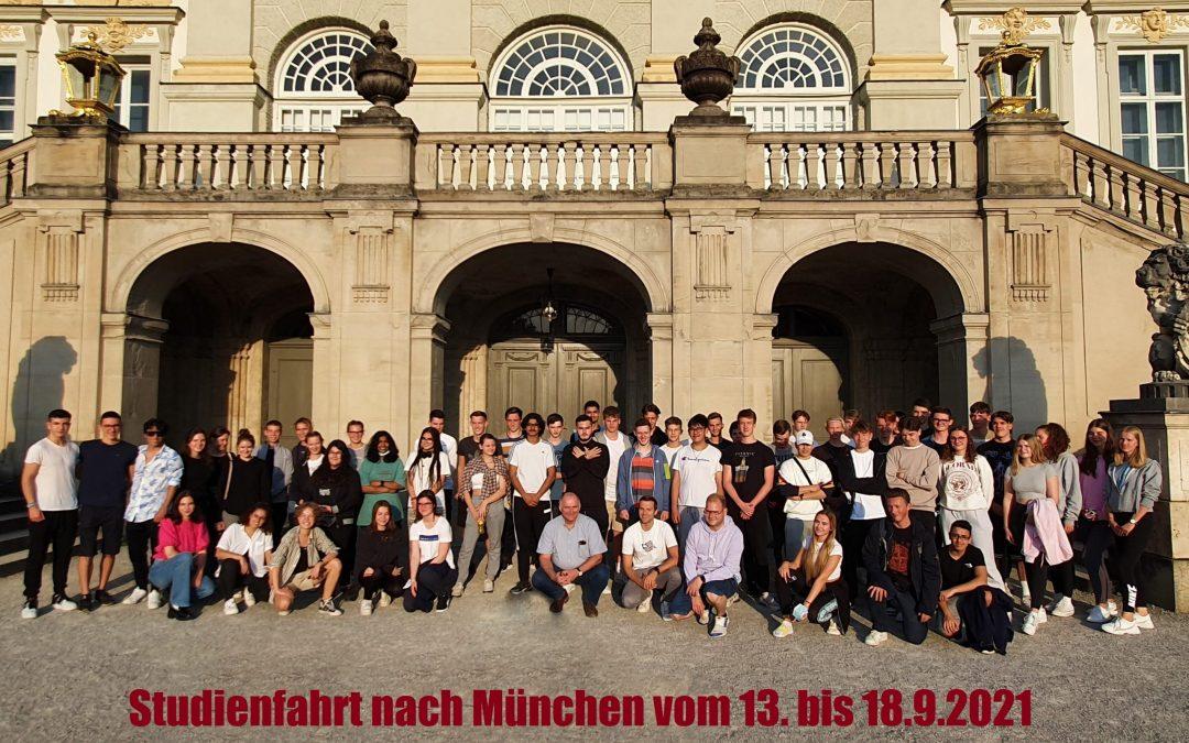 Studienfahrt der Leistungskurse Französisch, Erdkunde und Mathematik nach München 2021