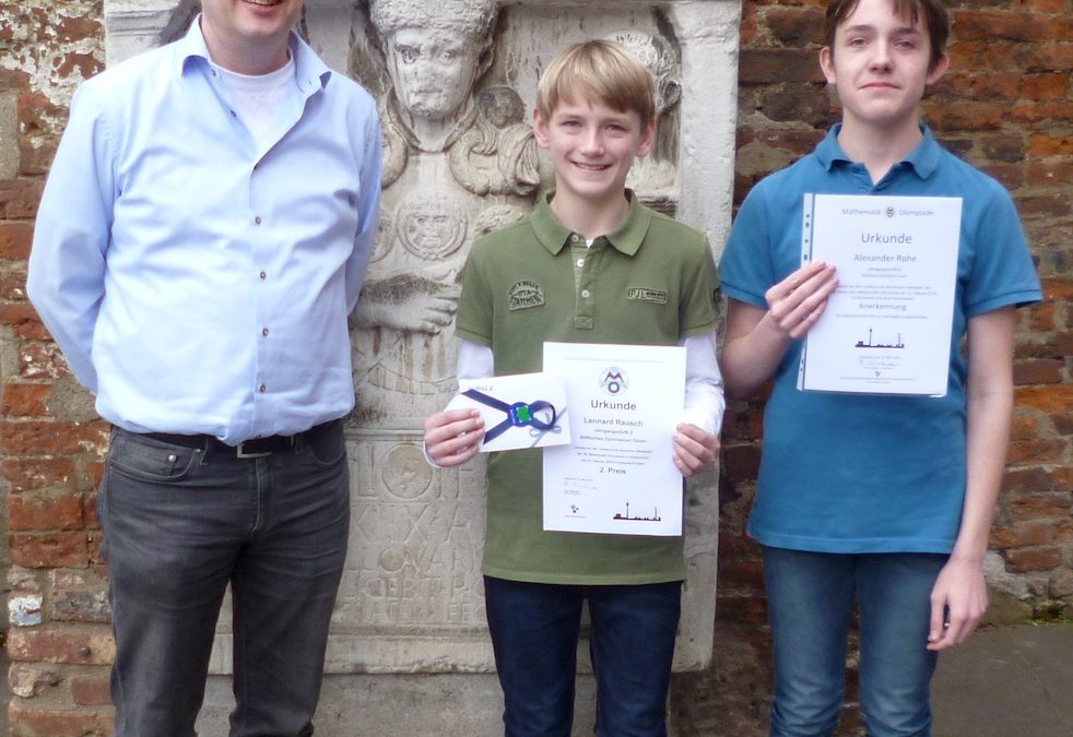 Landesweite Erfolge in Mathe-Olympiade