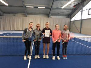 Schulmannschaft Tennis Mädchen WKIII 06.02.2017