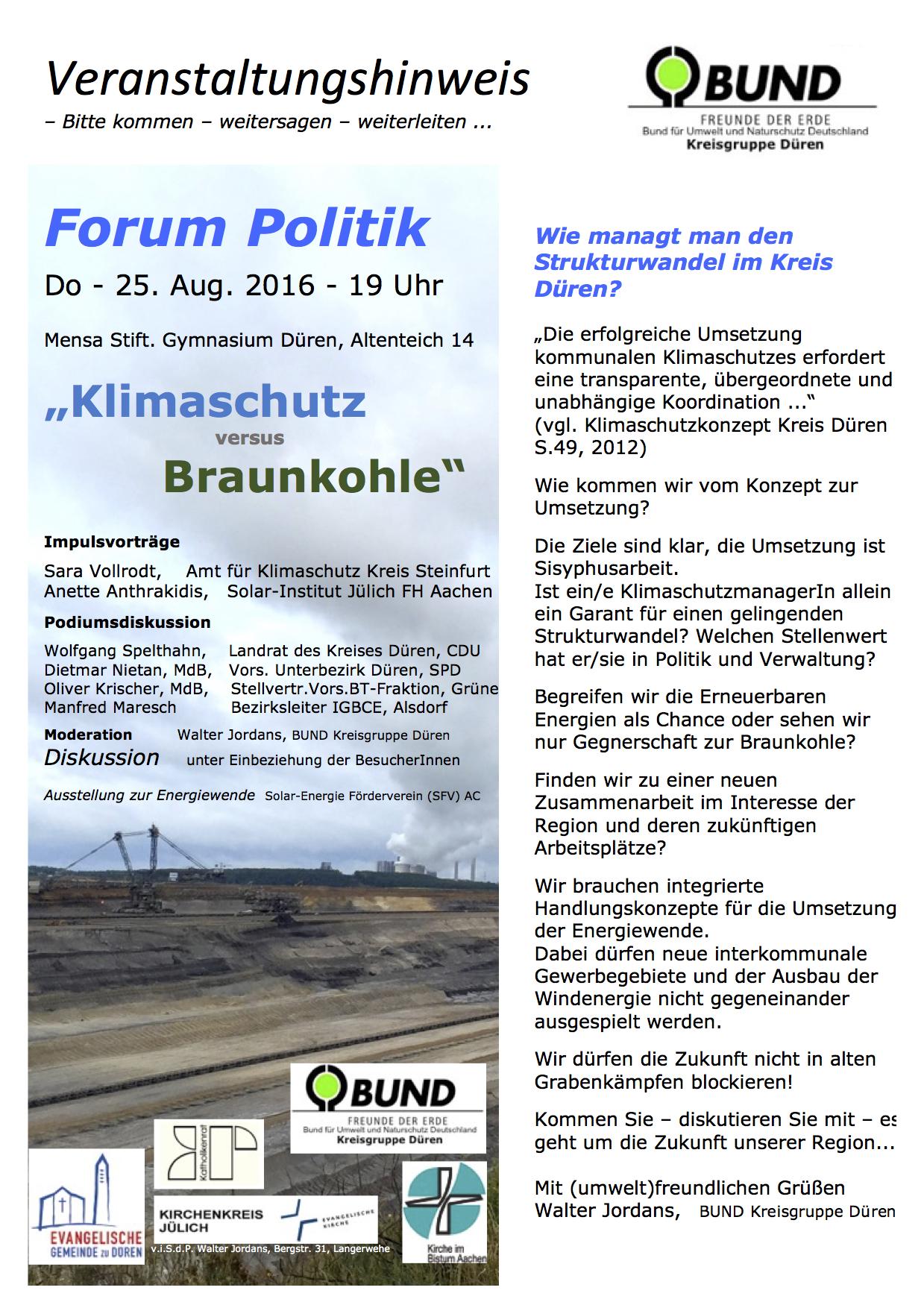 Veranstaltungshinweis FoPk